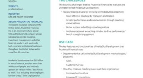 Prudential Financial Case Study
