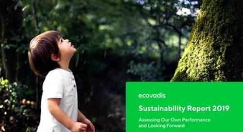 EcoVadis CSR/Sustainability Actions Report 2019 (englischsprachig)