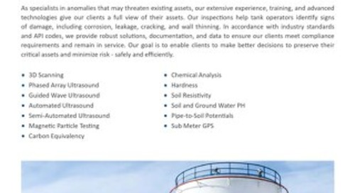 Storage Tank NDE Inspection Services