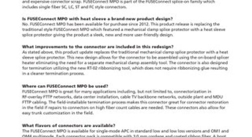 FUSEConnect® MPO Product FAQ