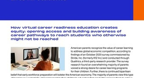 Virtual Career Readiness Lifts All Students