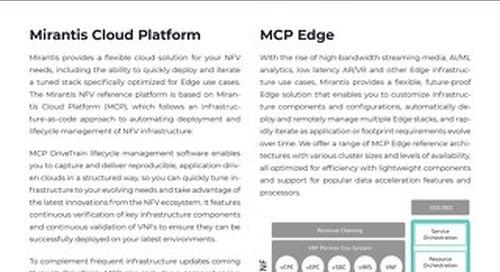 Mirantis NFV Solutions