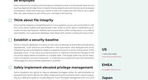 Cloud Security Checklist