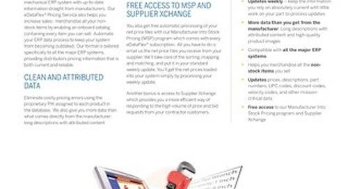 eDataFlex Datasheet for Plumbing and Mechanical Distributors