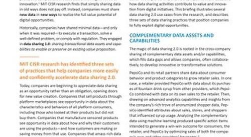 Data Sharing 2.0: New Data Sharing, New Value Creation