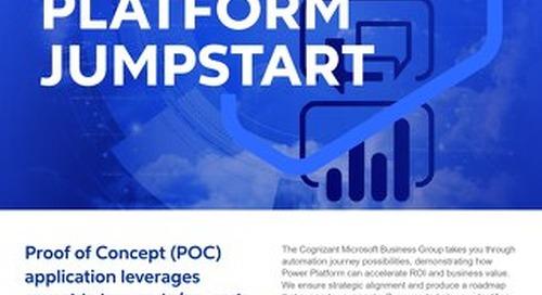 Cognizant MBG GO Power Platform Jumpstart 2021 Flyer