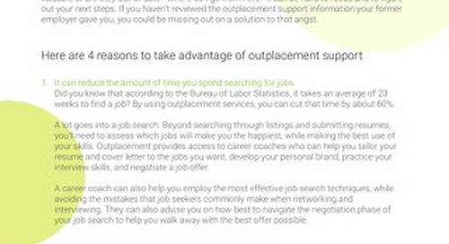 Intoo Outplacement - 4 Reasons You Should Use the Outplacement Service Your Company Offers