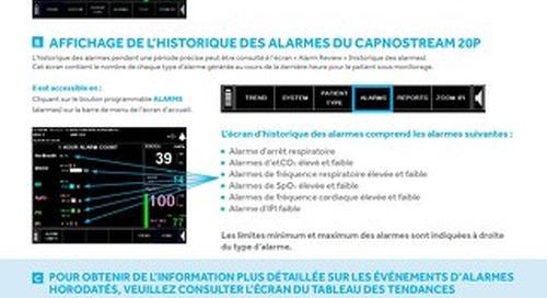 GUIDE DE CONSULTATION DES ALARMES : Moniteur Capnostream 20p