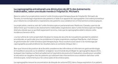 LE MONITORAGE RESPIRATOIRE AMÉLIORE LA SÉCURITÉ DES PATIENTS DURANT LES INTERVENTIONS DE L'UNITÉ D'ENDOSCOPIE