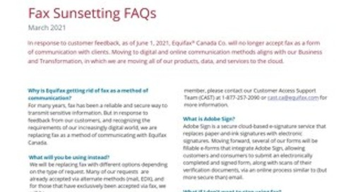Customer Fax Sunsetting FAQs