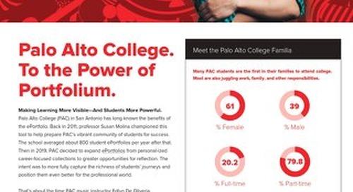 Palo Alto College. To the Power of Portfolium