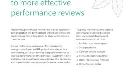 6 Simple Steps To More Effective Performance Reviews