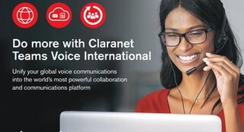 Claranet | Teams Voice International