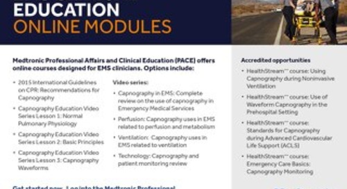 Education: EMS Clinical Education Online Modules