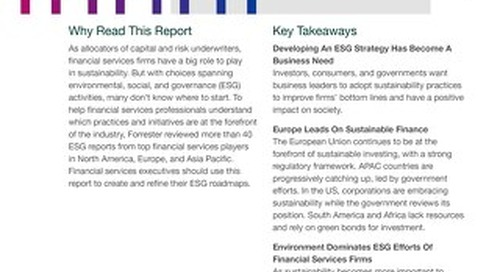 How Financial Services Firms Are Embracing Sustainability Around The World
