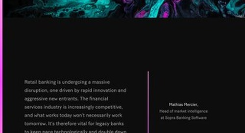 It's vital for legacy banks to keep pace technologically and double down on one of their historical advantages: trust.