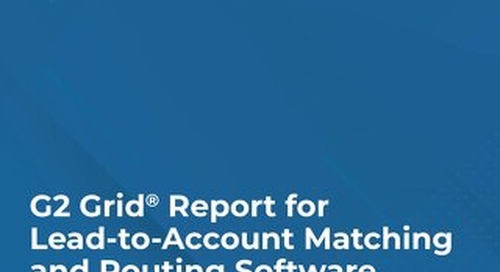Grid® Report for Lead-to-Account Matching and Routing Software