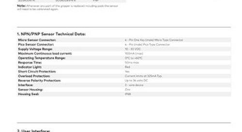 PGS Gripper Double Blank Sensor Kit User Instructions