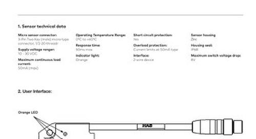 PGS Gripper 2-Wire Double Blank Sensor Kit User Instructions