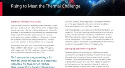 Thermal Management and Analysis: Rising to Meet the Thermal Challenge
