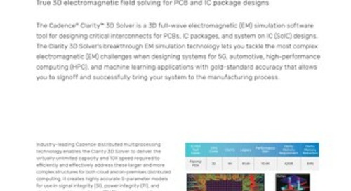 Clarity 3D Solver Datasheet