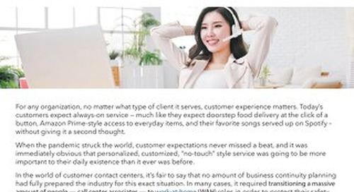 Shifting Contact Centers to Work-at-Home: 4 Essential Truths from the Front Lines