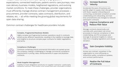 Icertis Contract Intelligence for Healthcare Providers