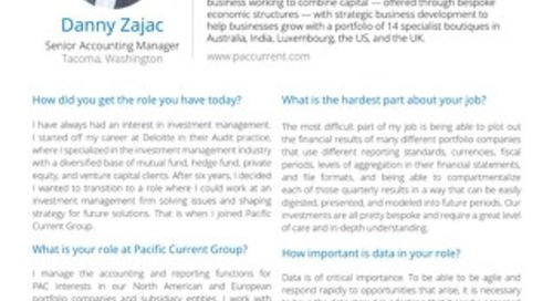 Data Leader Spotlight | Danny Zajac from Pacific Current Group