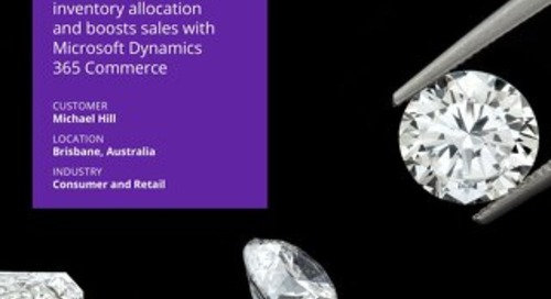 Michael Hill optimises inventory allocation and boosts sales with Microsoft Dynamics 365 Commerce
