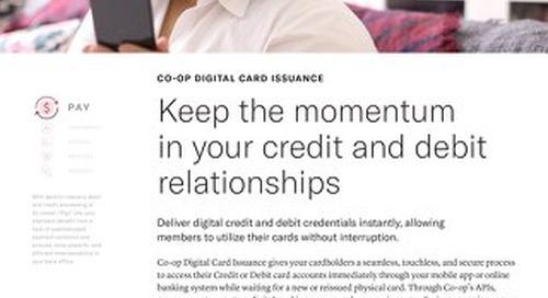 Digital Card Issuance Slipsheet