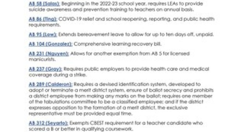 2021 Employee-Employer Legislation
