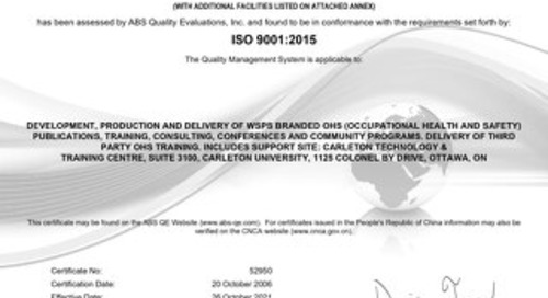 ABS Quality Evaluations for WSPS