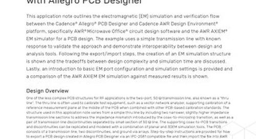 Ensuring Accurate Broadband EM Analysis with Allegro PCB Designer