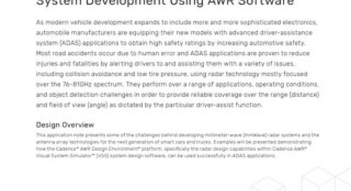 mmWave Automotive Radar and Antenna System Development