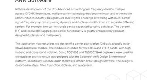 Design of a BAW Quadplexer Module
