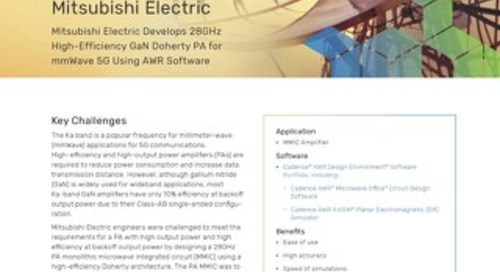 Mitsubishi Electric Develops 28GHz High-Efficiency GaN Doherty PA for mmWave 5G