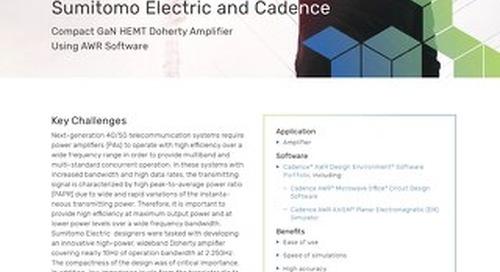 Sumitomo Electric Designs Compact GaN HEMT Doherty Amplifier