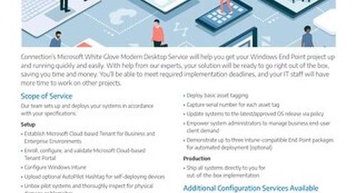 Microsoft White Glove Modern Desktop Service