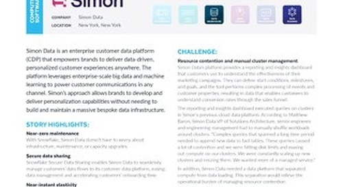 Simon Data Leverages Snowflake to Accelerate Data-Enabled Marketing for Customers