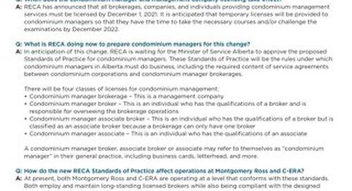 FAQs: New RECA Condominium Manager Licensing