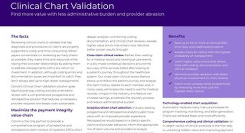Clinical Chart Validation solution