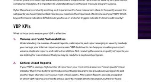 7 Considerations For An Impactful Vulnerability Disclosure Program (VDP)