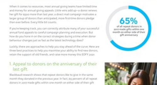 3 Annual Giving Strategies for EOFY 2021