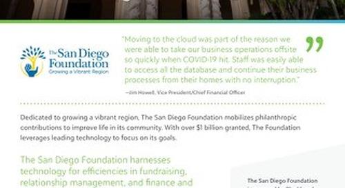 Customer Spotlight: San Diego Foundation