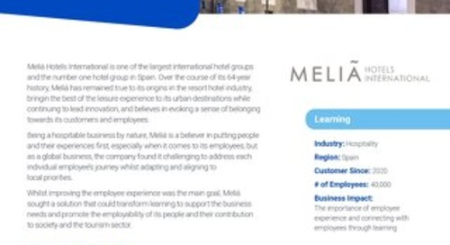 Case Study Melia Hotels