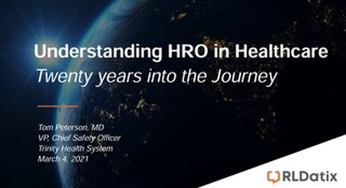 Understanding HRO in Healthcare