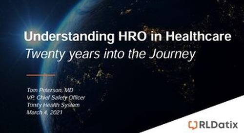 Understanding HRO in Healthcare