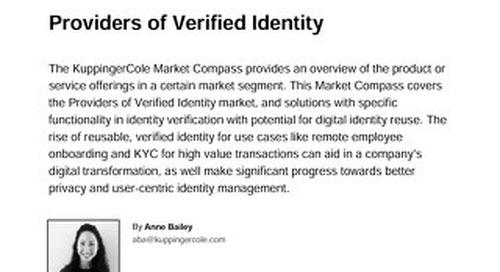 2021 KuppingerCole Market Compass for Providers of Verified Identity