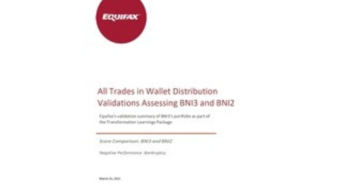 Equifax Distributions Chart - BNI 2 vs BNI 3 - CANADA ALL TRADES