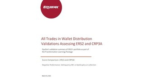 Equifax Distributions Chart - CRP3A vs ERS2 - ALL TRADES